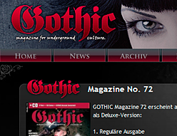 Gothic Magazine – Website