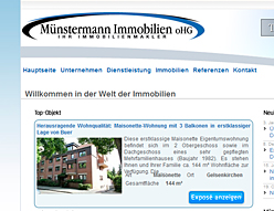 Münstermann Immobilien oHG – Website