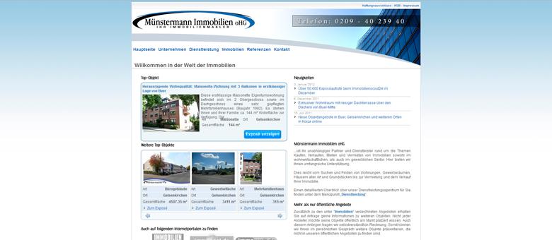 Münstermann Immobilien oHG – Website