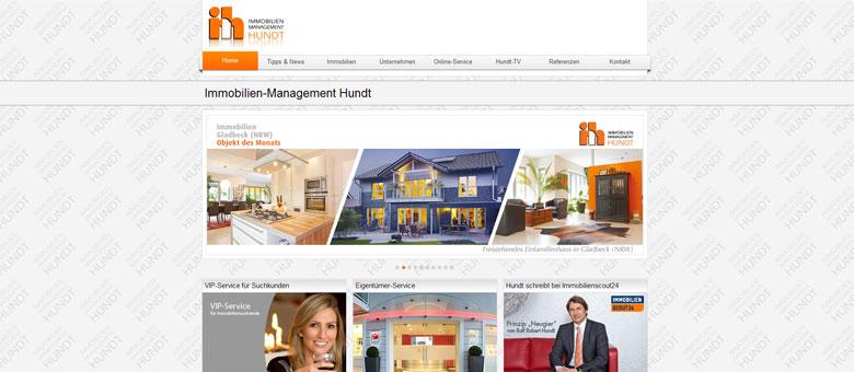 Immobilien-Management Hundt – Website
