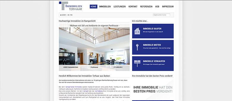 Immobilien Terhaar – Website